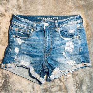 American Eagle Outfitters Distressed Jean Shorts